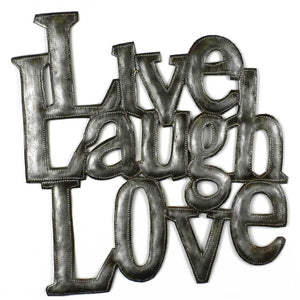 Love Laugh Live Metal Wall Art - Croix des Bouquets - Simply Handmade