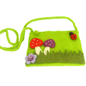 Felt Mushroom Purse - Global Groove (P) - Simply Handmade