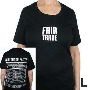 Fitted Fair Trade Tee Shirt with 1/4 Sleeve - Freeset - Simply Handmade