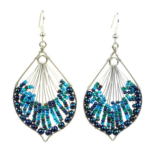 Cleo Earring - Blues - Lucias Imports (J) - Simply Handmade