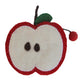Handmade Felt Fruit Coin Purse - Apple - Global Groove (P) - Simply Handmade