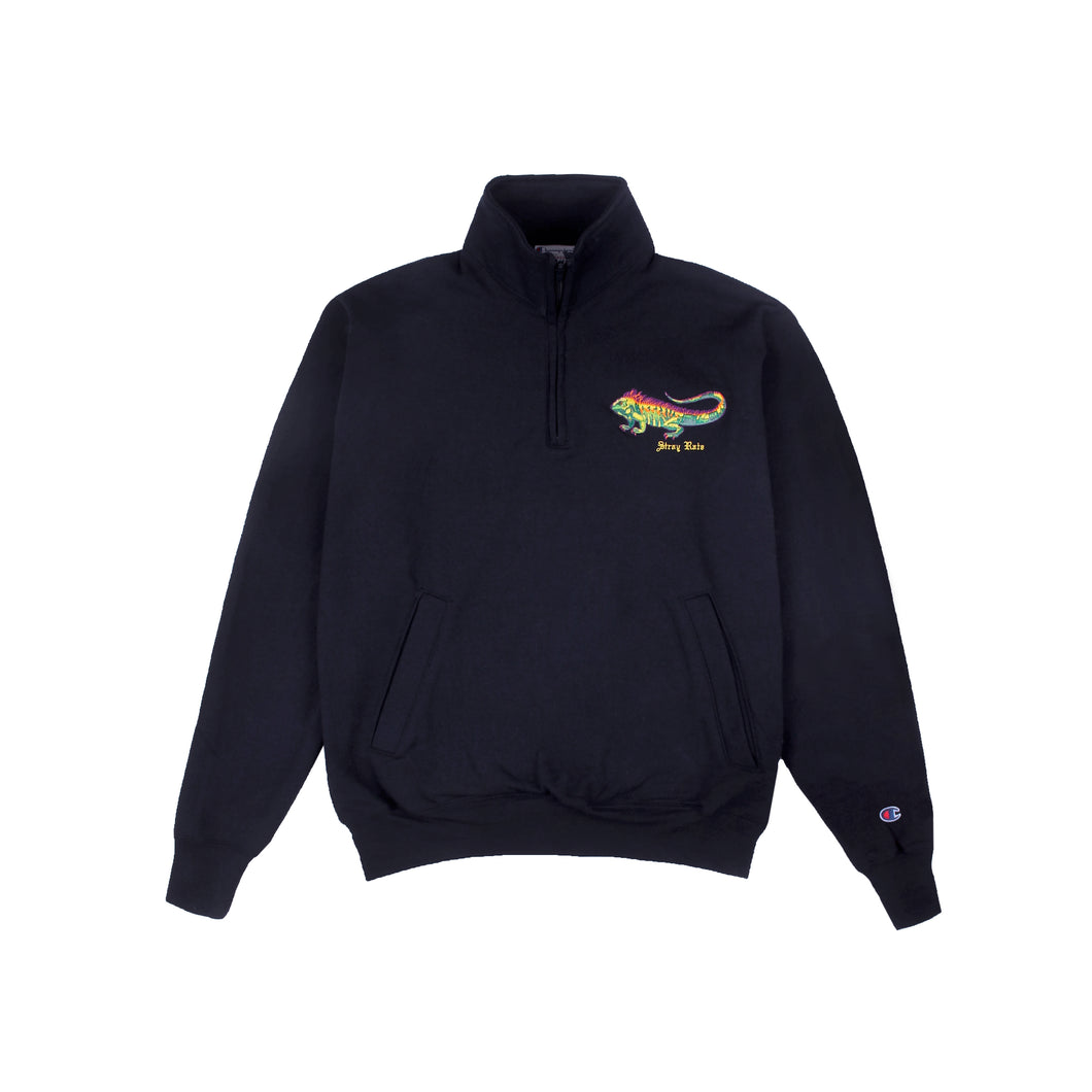 Iguana 1/4 Zip Sweatshirt (Navy)
