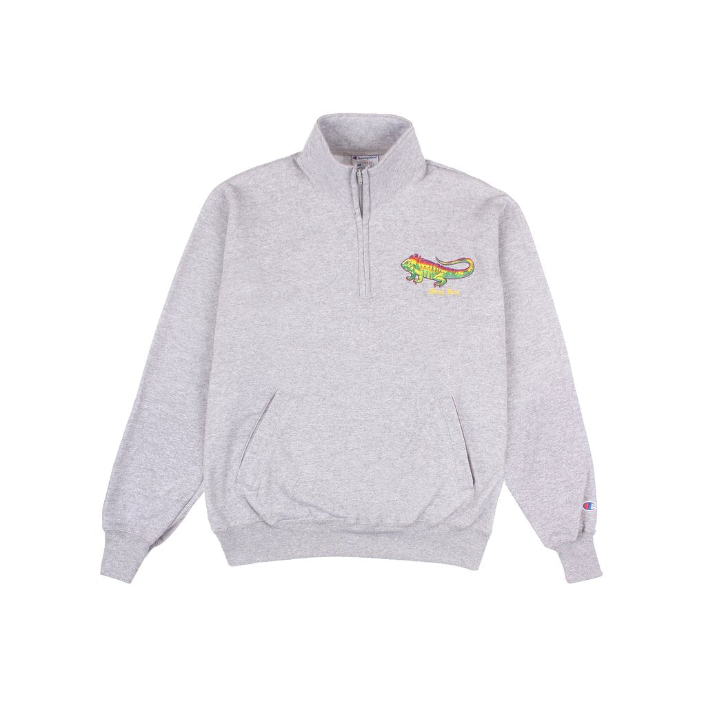 Iguana 1/4 Zip Sweatshirt (Grey)