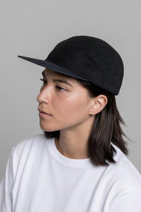 Four Panel Cap - Black Fleece Tussah