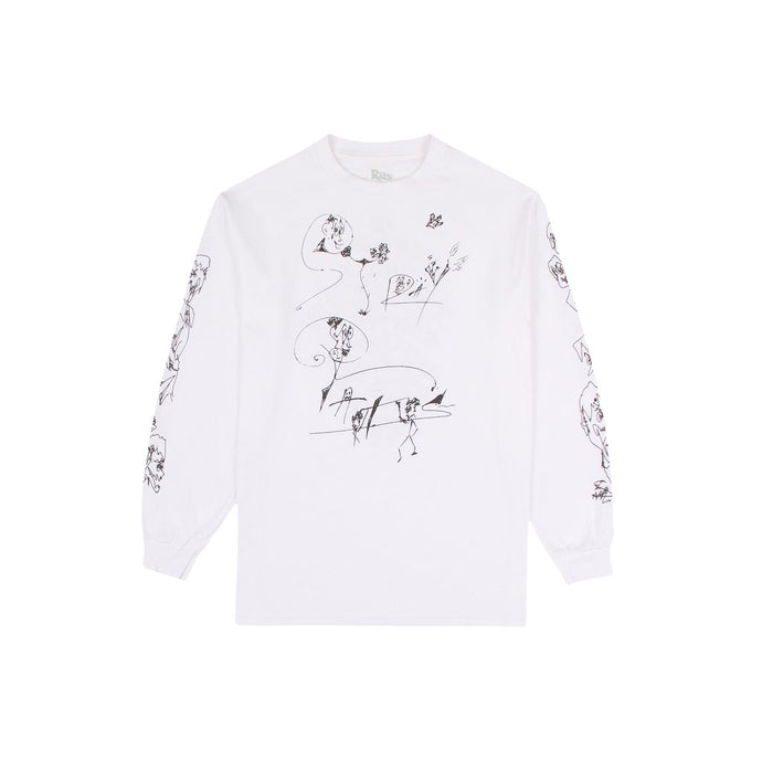 Ismail Faces L/S Tee (White)