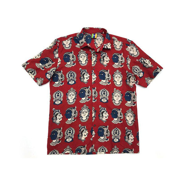 Divine Button Up (Red)