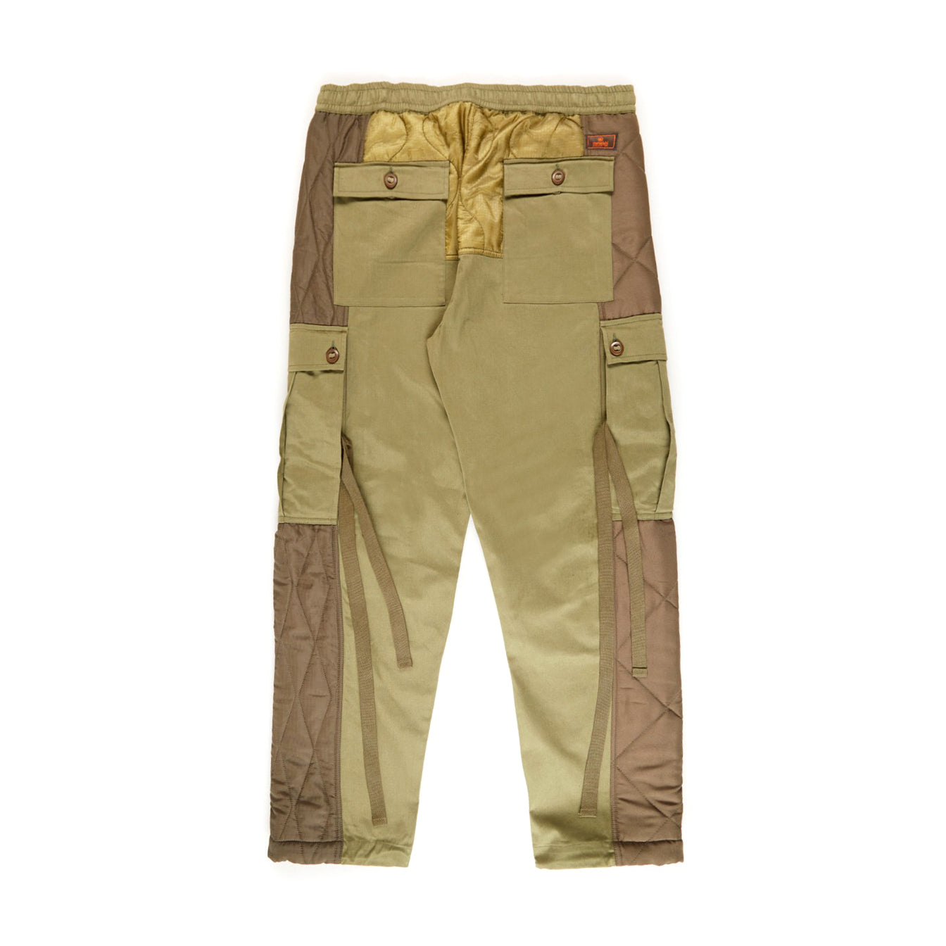 Upcycled TriQuilted Cargo Pants (Olive)