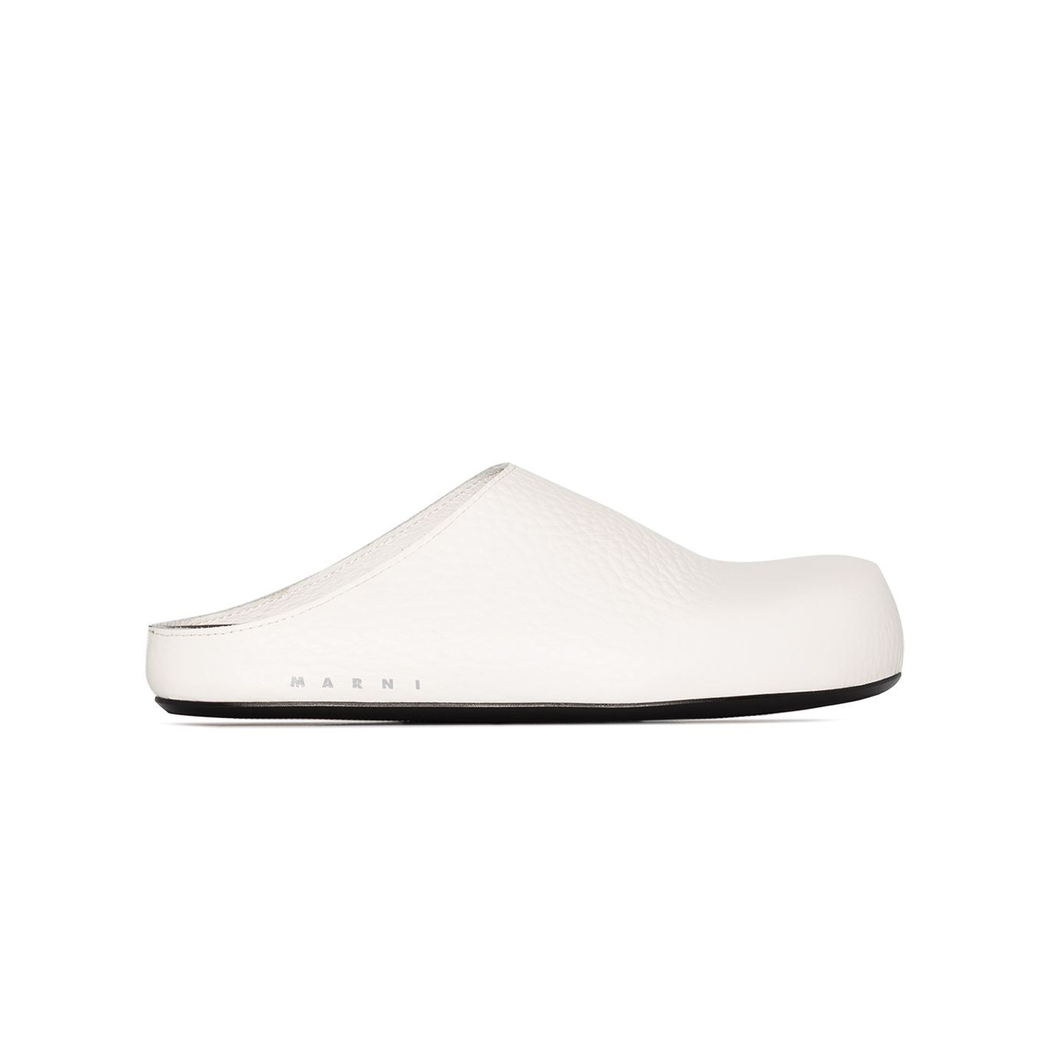 Leather White Clog