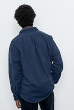 Load image into Gallery viewer, LS Popover Shirt Two - Navy Polar Fleece