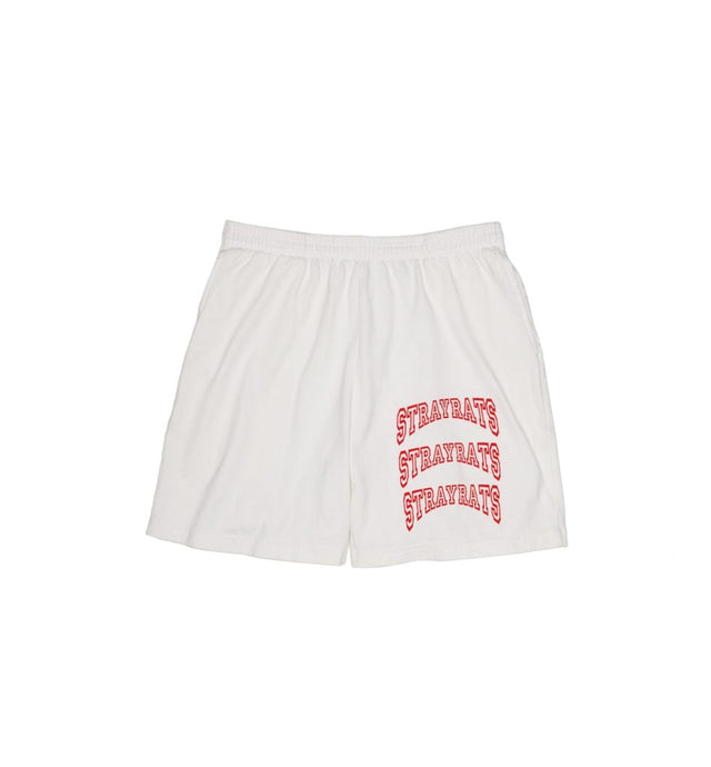 College Arch Jammer Shorts (White)