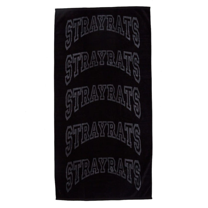 College Arch Beach Towel (Black)