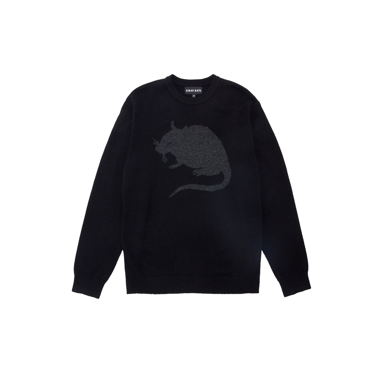 Tonal Rat Logo Sweater (Black)