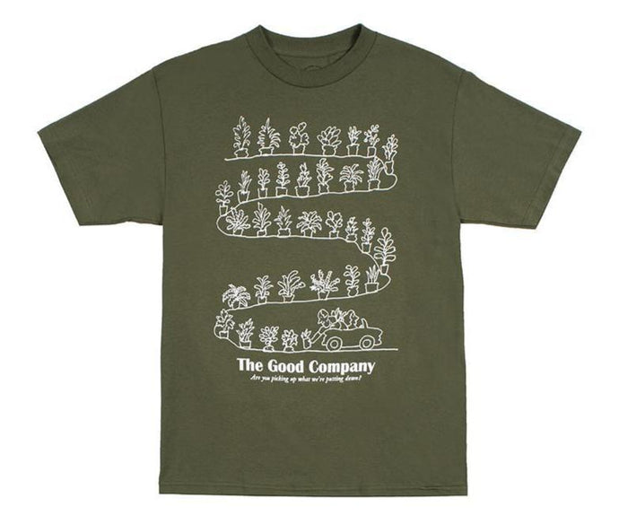 Green Word Tee (Olive)