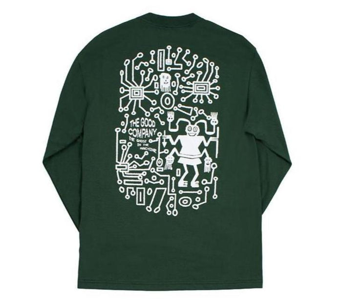 Ghosts Long Sleeve (Forest Green)