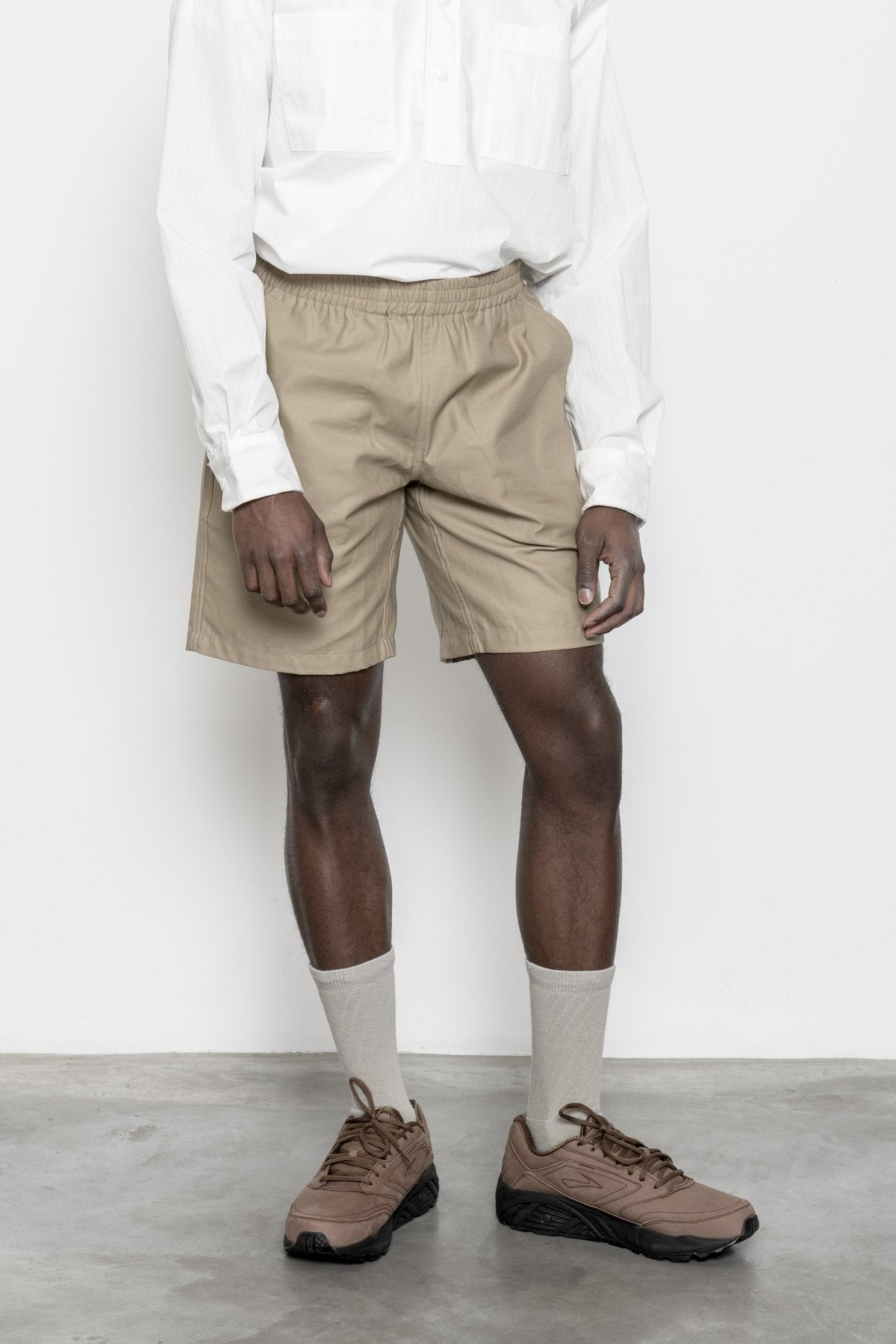 Shorts - Khaki Sateen