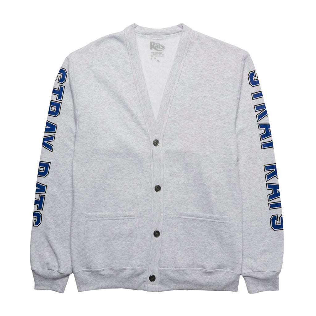 College Fleece Cardigan (Grey)