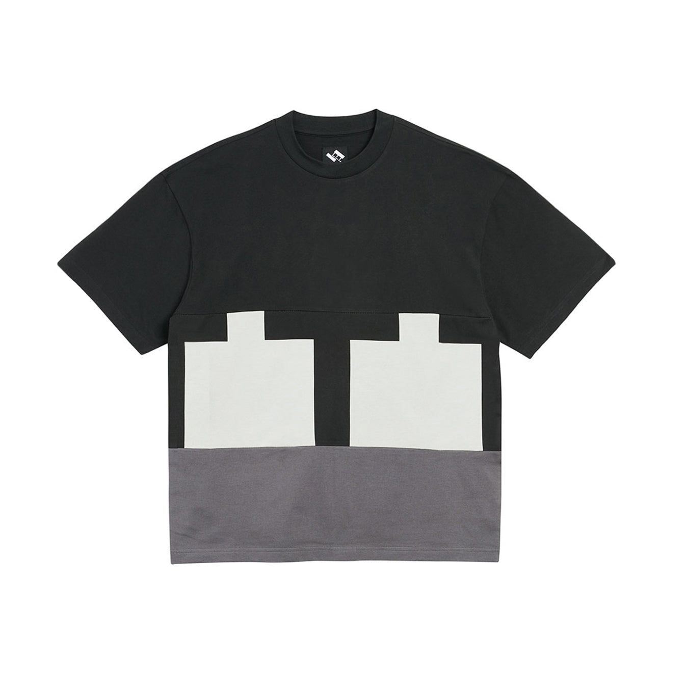 Cut & Sew T-Shirt (Black/Grey)