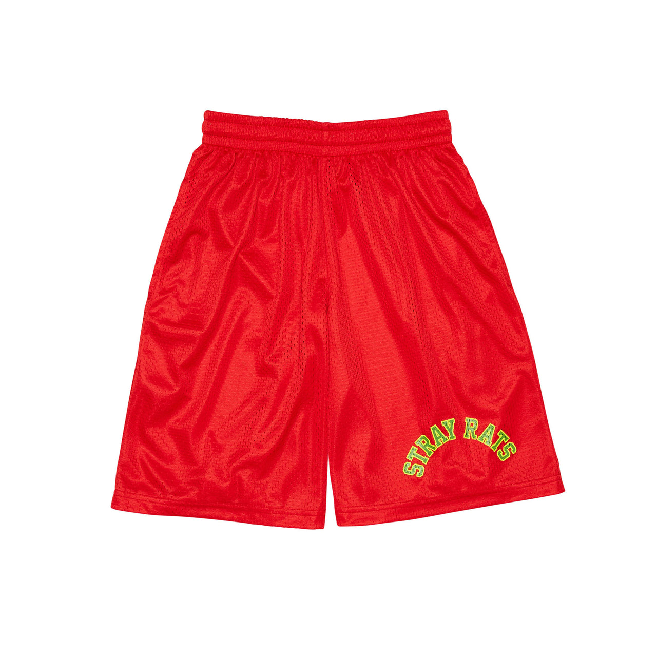 Two-Tone Arch Mesh Shorts (Red)