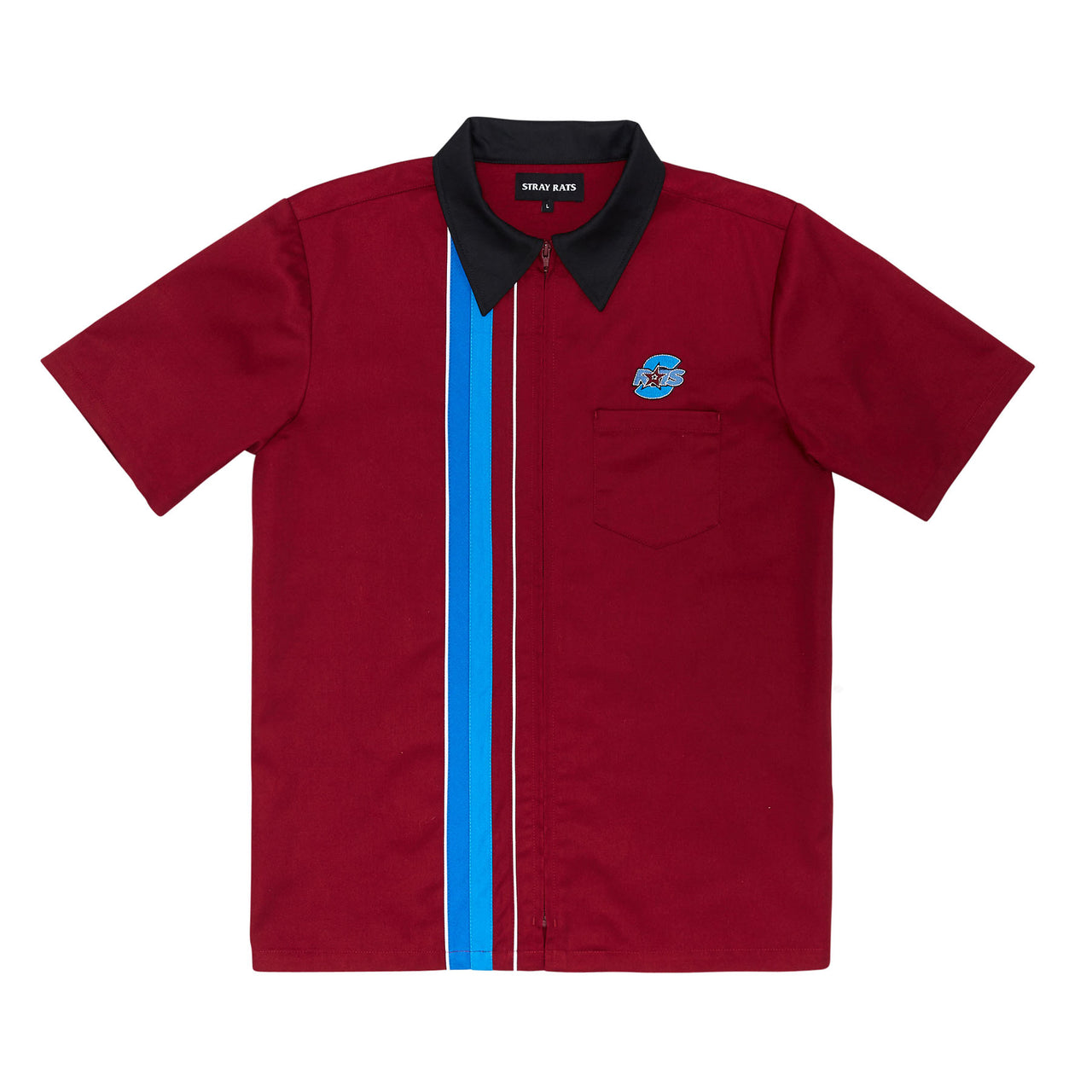 Zip Work Shirt (Maroon)