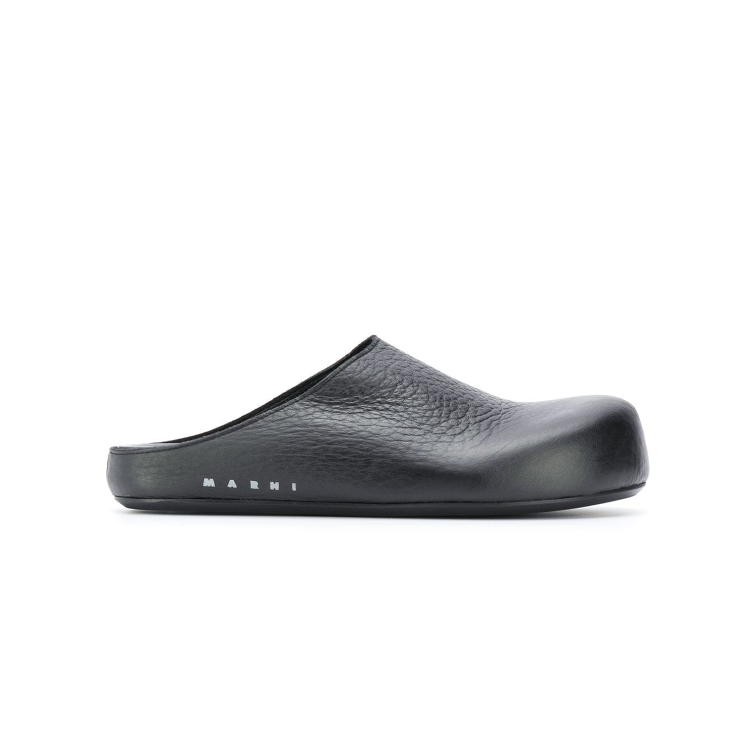 Leather Black Clog