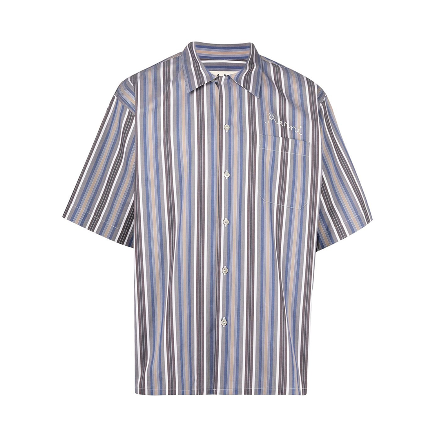 Logo-Embroidered Striped Shirt