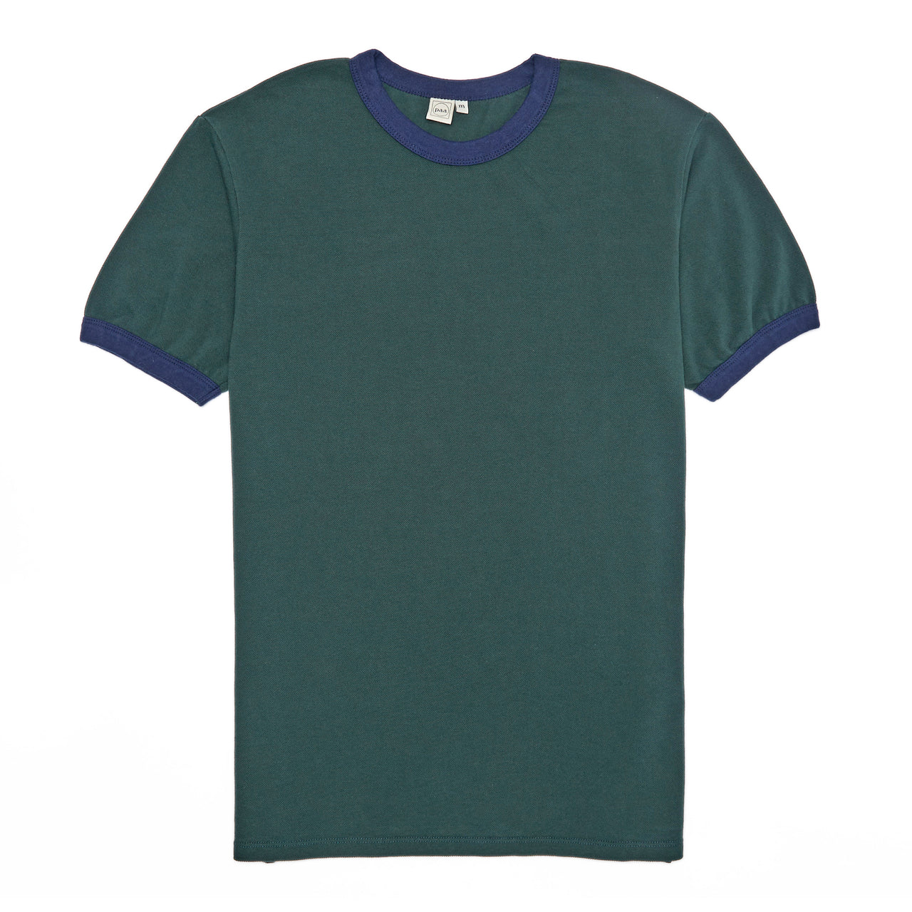 SS Pique Ringer Tee - Forest