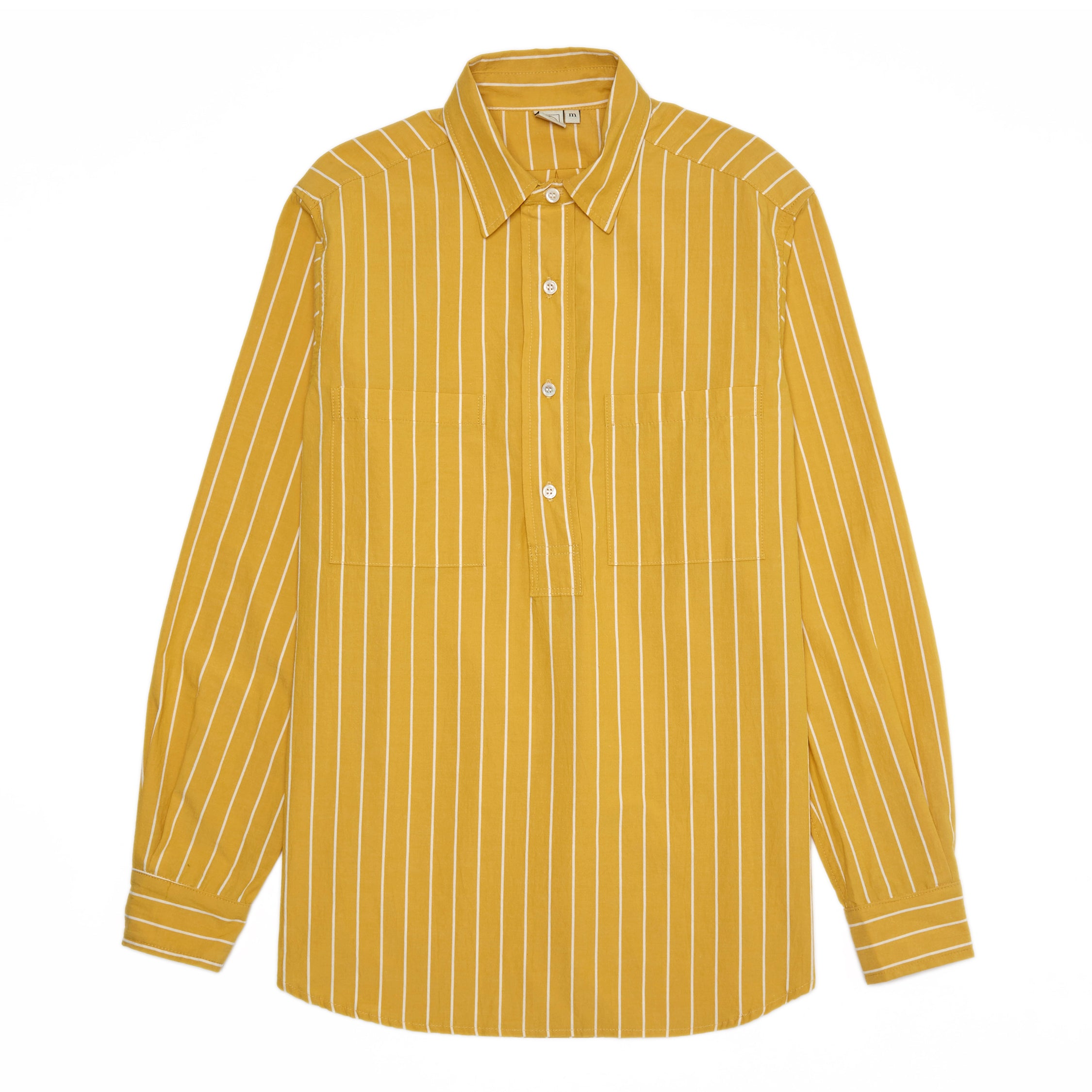 LS Popover Shirt Two - Canary/White Stripe