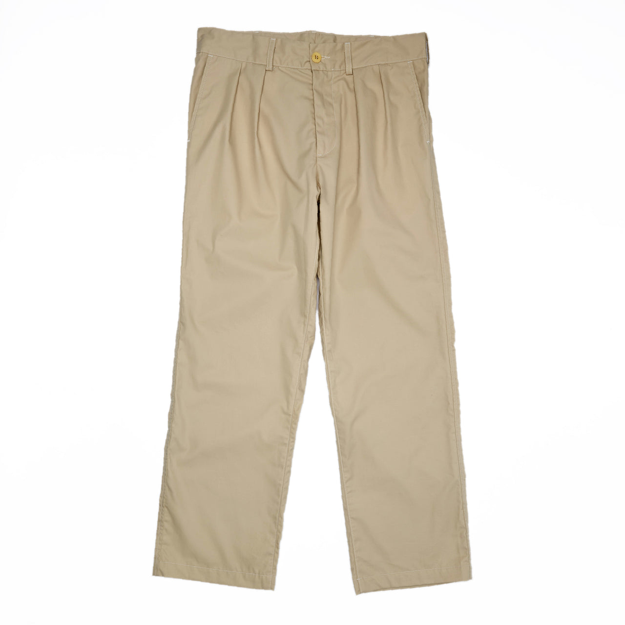 Double Pleat Pant - Light Khaki