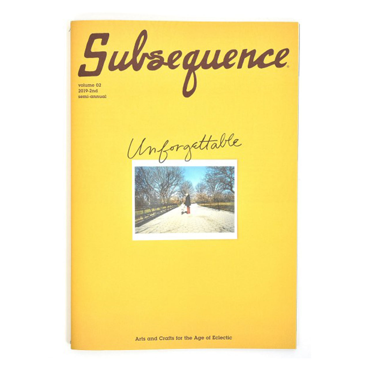 "Subsequence Magazine (vol. 02)  ""The Unforgettable Issue"" 2019-2nd"
