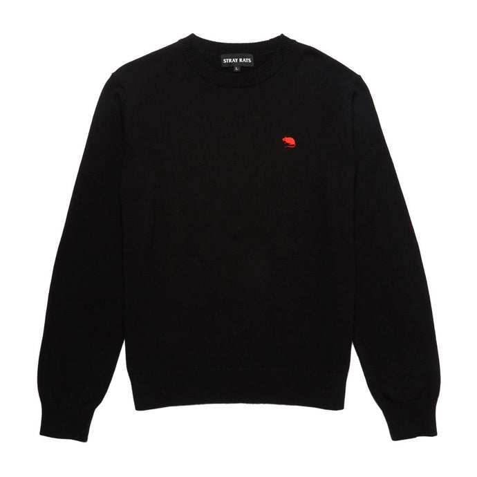 Rat Logo Knit Sweater (Black)