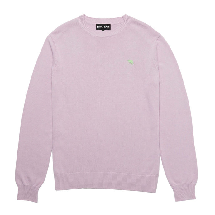 Rat Logo Knit Sweater (Lilac)