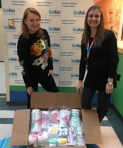 Giftgowns donation Sickkids