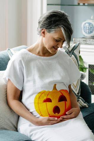 fall pregnancy essentials - pumpkin gown