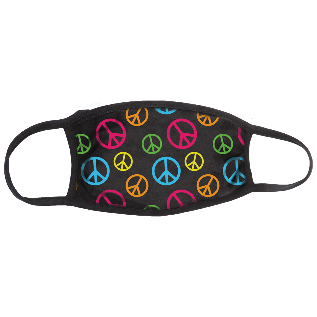 Peace Signs (Color) Face Mask