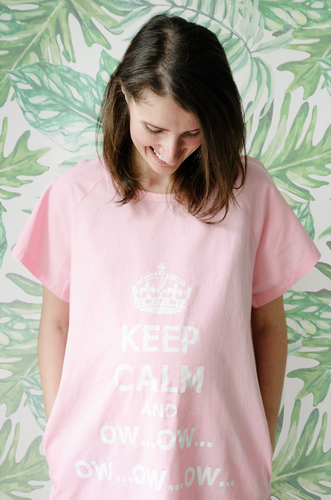 Keep Calm and Ow (Pink)