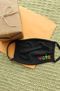 Rainbow Peace Vote Face Mask