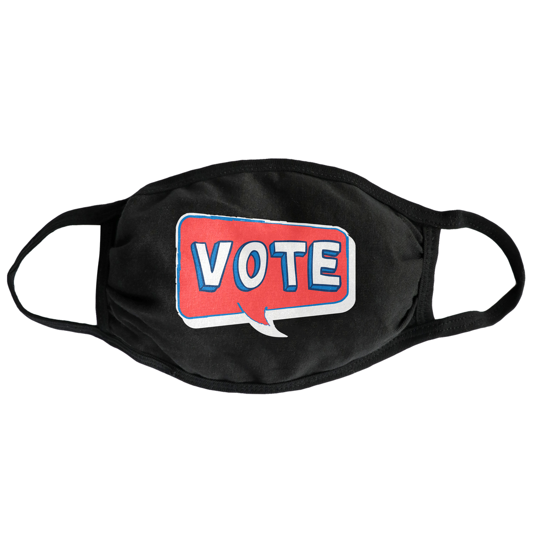 Speech Bubble Vote Face Mask