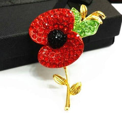 Gold Poppy Brooch