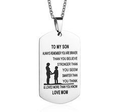 To My Son Stainless Steel Necklace