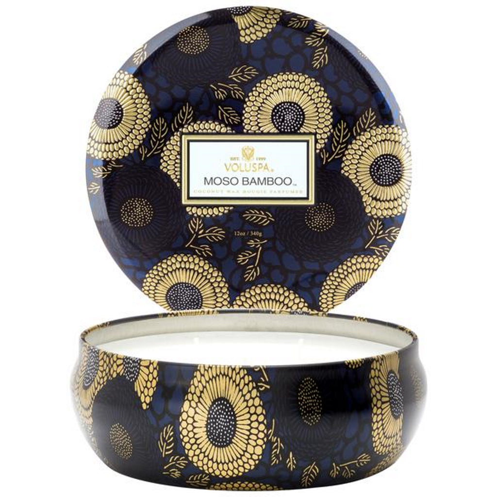 Voluspa  decorative tin candle moso bamboo