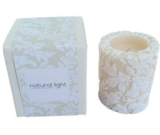 natural light company damask candle