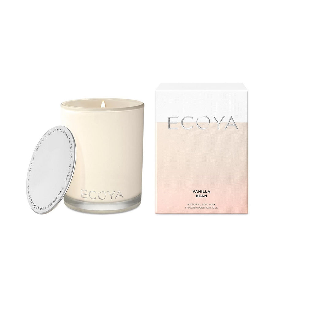 ecoya madison soy wax candle in glass jar