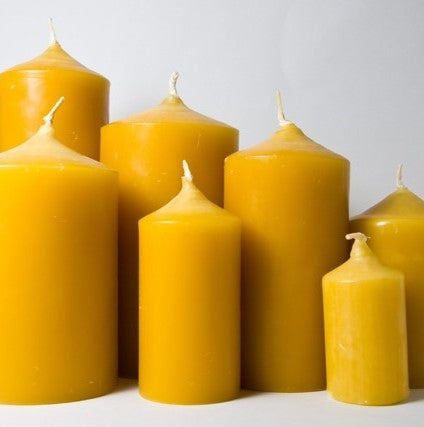 new zealand beeswax pillar candles