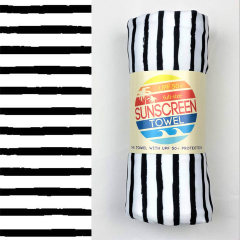 Full Size UPF 50+ Sunscreen Towel - Stripes
