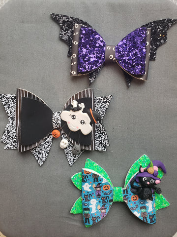 Halloween Characters #2 Clay Bows