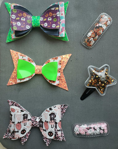 Small Halloween Bows & Shaker Clips