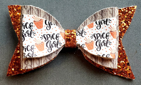 Pumpkin Spice Girl Bows