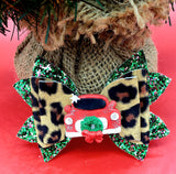 Leopard Christmas Car Bow