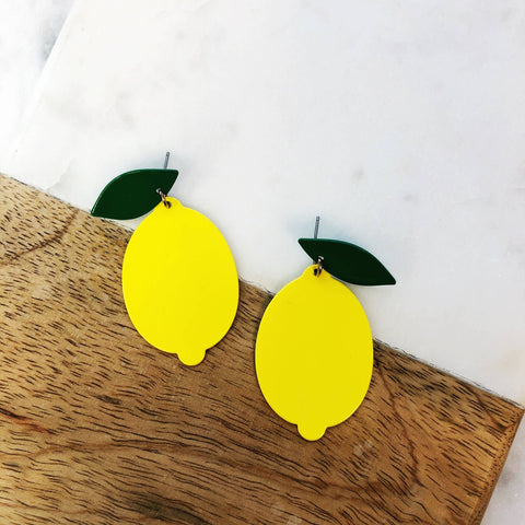 Mama's Lemon Dangle Earrings
