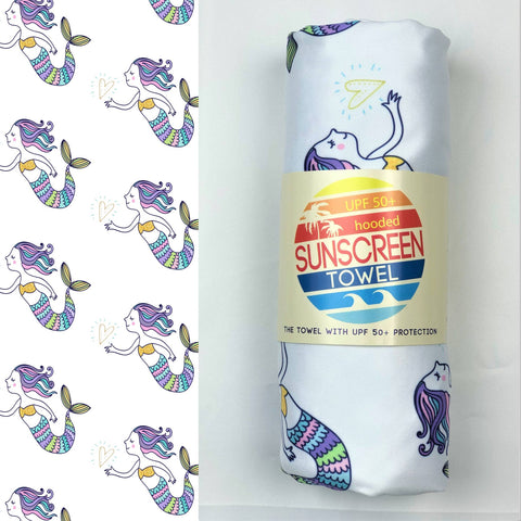 Hooded UPF 50+ Sunscreen Towel - Mermaid Dreams